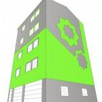 Diseño de la fachada en 3D