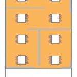 Diseño de la fachada lateral